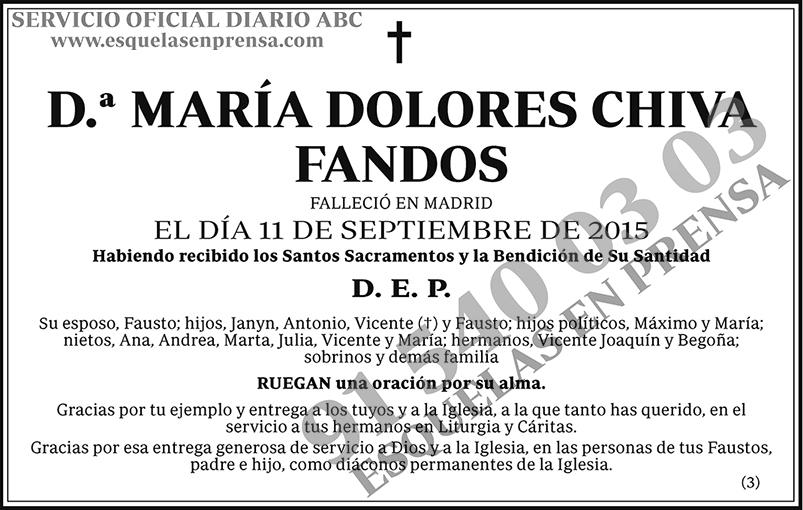 María Dolores Chiva Fandos